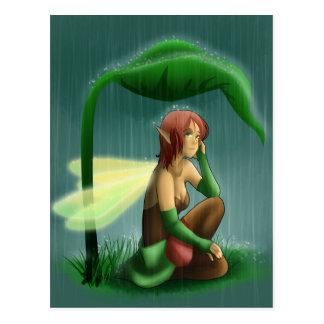 Postal Hada de la lluvia