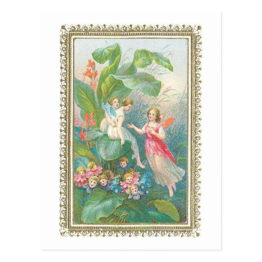 Postal Hadas de la fantasía del Victorian del vintage