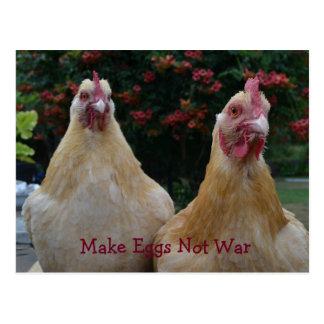 Postal Haga la guerra de los huevos no… Pulimente la