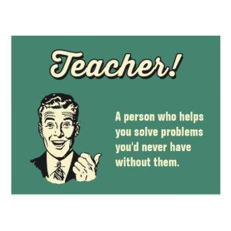 Postal Haga su propia definición divertida del profesor