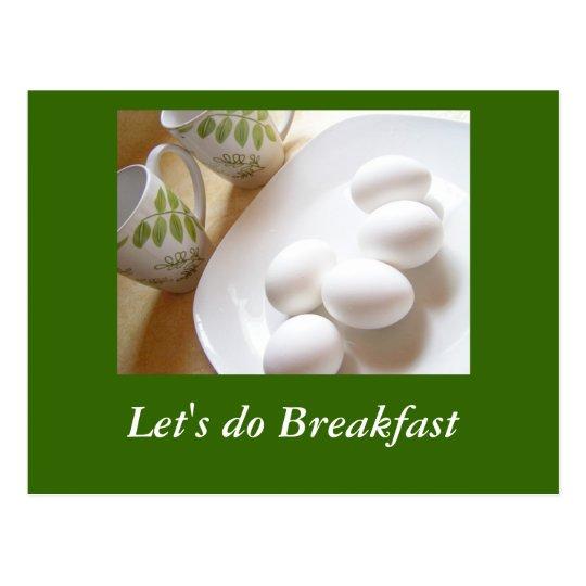 Postal Hagamos el desayuno