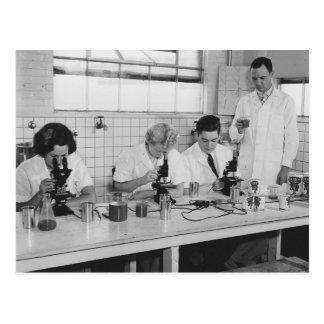 Postal Hagamos la ciencia - foto del vintage