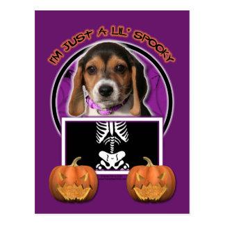 Postal Halloween - apenas un Lil fantasmagórico - beagle