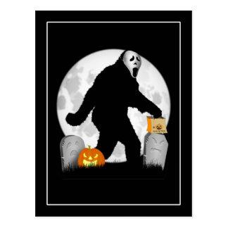 Postal Halloween Squatchin