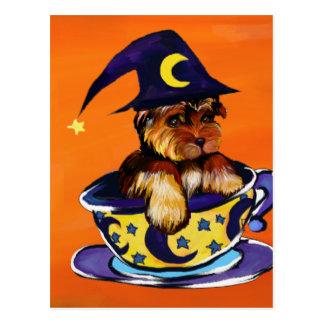 Postal Halloween Yorkie Poo