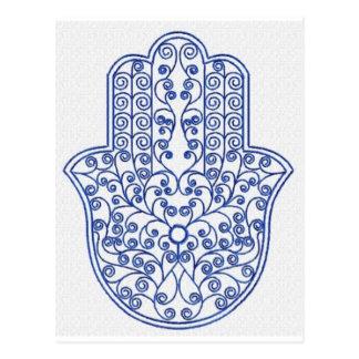 Postal hamsa*tunis*morocco*henna*blue