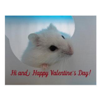 Postal Hámster feliz del el día de San Valentín