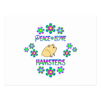 Postal Hámsteres del amor de la paz