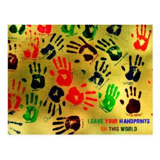 Postal Handprints