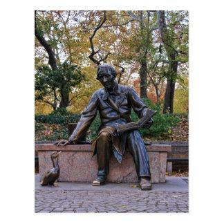 Postal Hans Christian Andersen, Central Park, NYC