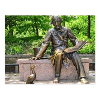 Postal Hans Christian Andersen en Central Park