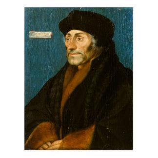 Postal Hans Holbein Erasmus más joven de Rotterdam