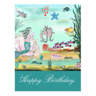 Postal Happy Birthday cuento de hadas