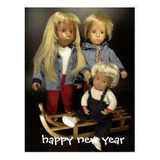 Postal happy Sasha new year with
