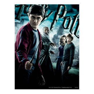 Postal Harry Potter con Dumbledore Ron y Hermione 1