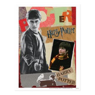 Postal Harry Potter entonces y ahora