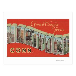 Postal Hartford, Connecticut - escenas grandes 4 de la