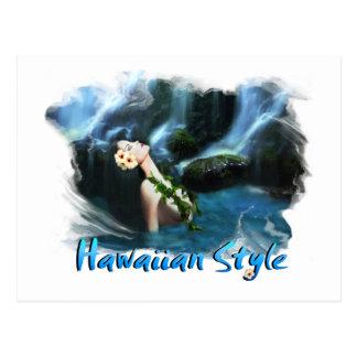 Postal hawaiana del estilo