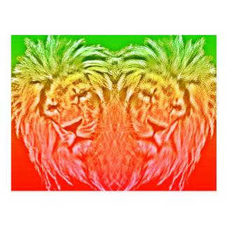 POSTAL HEART LION RASTA