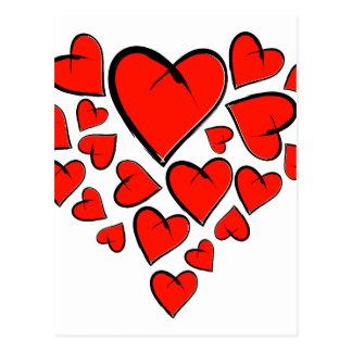 Postal Heartinella - corazones del vuelo