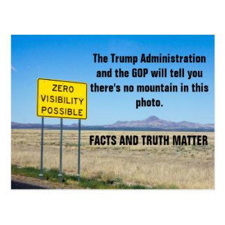 Postal Hechos y #Resist de la materia de la verdad