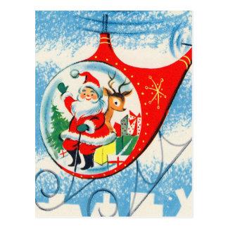 Postal Helicóptero retro Santa del anuncio del vintage
