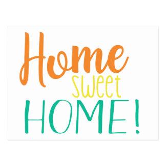 Postal Hemos movido el hogar dulce casero simple de la