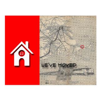 Postal Hemos movido el mapa de la casa de W substituimos