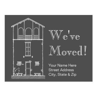 Postal Hemos movido la nueva dirección de la pizarra gris