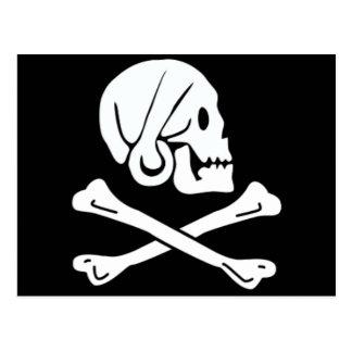 Postal Henry cada bandera de pirata auténtica