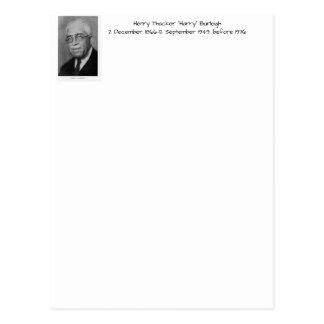 """Postal Henry Thacker """"Harry"""" Burleigh"""