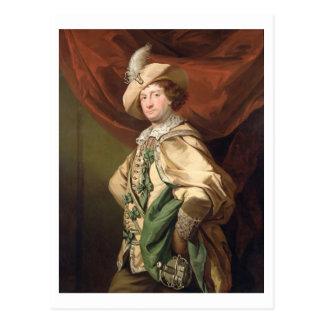 Postal Henry Woodward como Petruchio, c.1773-74 (el