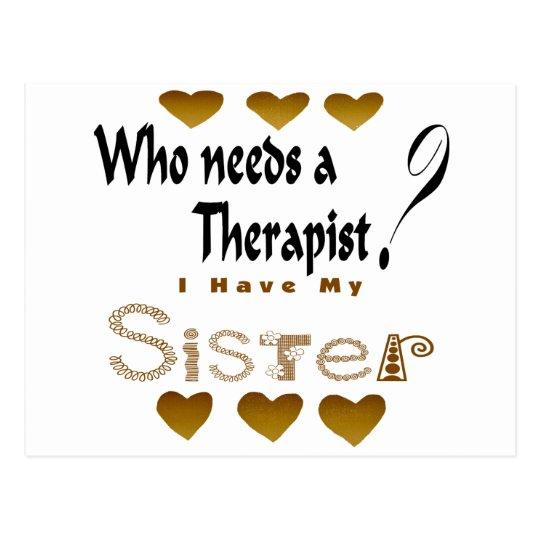 Postal Hermana del terapeuta