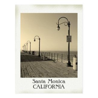 ¡Postal hermosa de Santa Mónica del vintage!