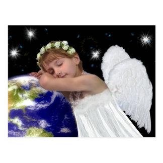 Postal hermosa del navidad del ángel