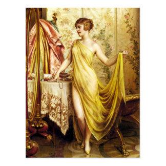 Postal hermosa del vintage de Vanitas