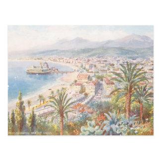 Postal Hermosa vista Niza de Francia