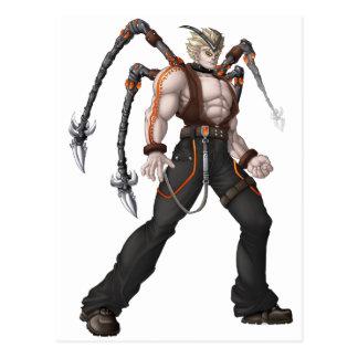 Postal Héroe del animado del mutante