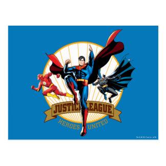 Postal Héroes de la liga de justicia unidos