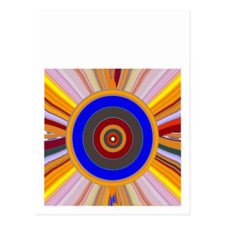 Postal Herramienta del FOCO: PUNTO de la rueda de color