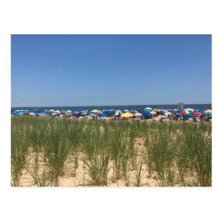 Postal Hierba del océano de la arena de los paraguas de