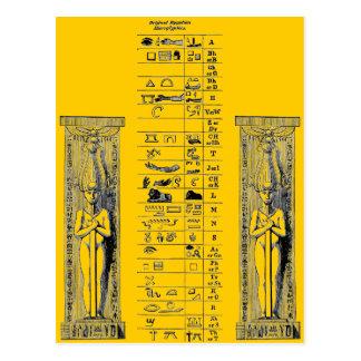 Postal Hieroglyphics egipcios
