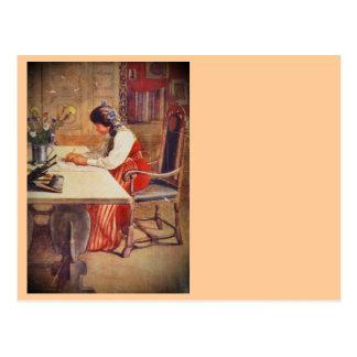 Postal Hilda en la tabla del arte