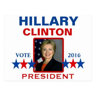 Postal Hillary Clinton para el presidente 2016