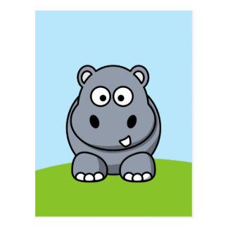 Postal Hipopótamo lindo