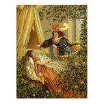 Postal Historia de hadas viejas victorianas, belleza durm