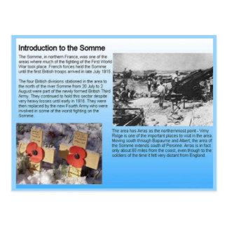 Postal Historia, Primera Guerra Mundial, el Somme