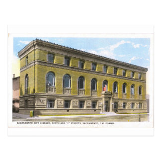 Postal histórica de la biblioteca pública de Sacra