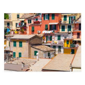 Postal Hogares coloridos en Cinque Terre Italia