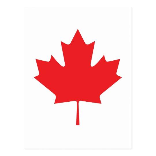 POSTAL HOJA CANADIENSE